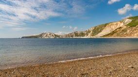 Baie de Worbarrow, côte jurassique, Dorset, R-U photo stock