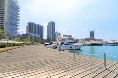 Baie de Zaitunay à Beyrouth, Liban Images stock