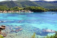 Baie de Zuljana sur la péninsule de Peljesac Photos stock