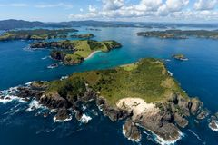 Baie des îles Image libre de droits