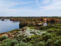 Baie des îles côtières dans Victoria Images stock