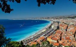 Baie des anges la Côte d'Azur Images libres de droits