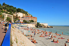 Baie des anges, Nice (Frances) Photos stock