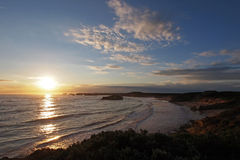 Baie du coucher du soleil 1 de martyres Photographie stock libre de droits