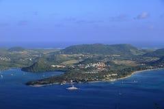 Baie du Marin - Sainte Anne - karibiska Martinique - FWI - Arkivbilder