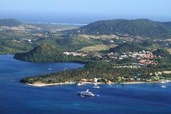 Baie du Marin - Sainte Anne - la Martinica - FWI - i Caraibi immagine stock