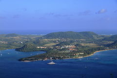 Baie du Marin - Sainte Anne - la Martinica - FWI - i Caraibi immagini stock
