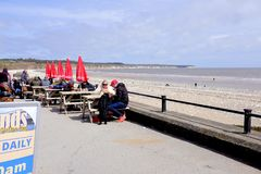 Baie du nord de Bridlington, North Yorkshire, R-U Image libre de droits