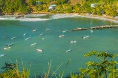 Baie du ` s d'Anglais au Tobago Photos stock