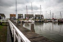 Baie en octobre Pays-Bas de Marken Photos stock
