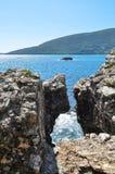 Baie ensoleillée d'été Image stock