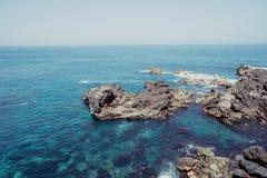 Baie espagnole d'océan photographie stock