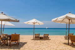 Baie exotique de plage de Kata Noi en île de Phuket image stock