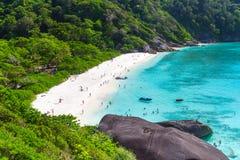 Baie idyllique des îles de Similan Photographie stock