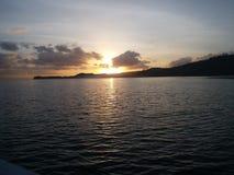 Baie Indonésie de matin de mer de lanscape de lever de soleil belle photographie stock