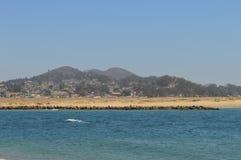 Baie la Californie de Morro de plage Photos stock