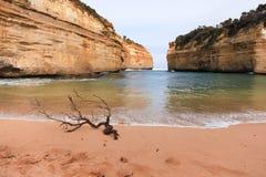 Baie le long de la route grande d'océan, Australie Photos stock