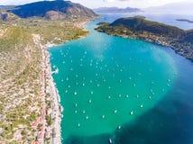 Baie Leucade Grèce de Nidri Photographie stock libre de droits