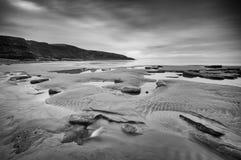 Baie nuageuse de Dunraven Images libres de droits
