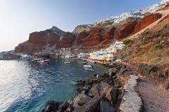 Baie Oia Santorini d'Ammoudi Images stock