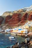 Baie Oia Santorini d'Ammoudi Photo libre de droits