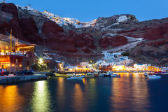 Baie Oia Santorini d'Ammoudi Images libres de droits