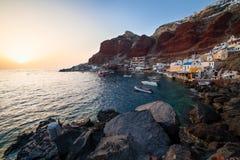 Baie Oia Santorini d'Ammoudi Image libre de droits