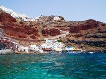 Baie Oia Santorini d'Ammoudi Photos libres de droits
