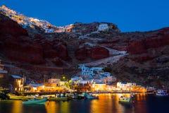 Baie Oia Santorini d'Ammoudi Image stock