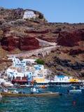 Baie Oia Santorini d'Ammoudi Photos stock
