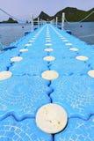Baie phangan d de lomprayah de jetée de kho de l'Asie et mer de sud de la Chine Photo libre de droits