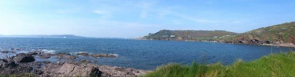 Baie Plymouth de Bovisands devon Photos stock