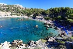 Baie Rhodes Grèce d'Anthony Quinn Image libre de droits