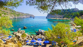 Baie Rhodes Grèce d'Anthony Quinn Photographie stock