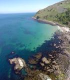 Baie rocailleuse Irlande du Nord de Murlough de littoral photo libre de droits