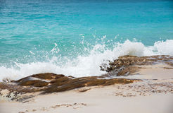 Baie Rouge  Pink Sand Beach Royalty Free Stock Images