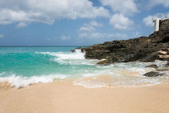 Baie Rouge  Pink Sand Beach Stock Image