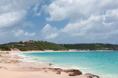 Baie Rouge  Pink Sand Beach Royalty Free Stock Photo