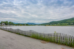 Baie-Saint-Paul charlevoix quebec. Looking back at Baie-Saint-Paul charlevoix Stock Photo