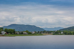 Baie-Saint-Paul charlevoix quebec. Baie-Saint-Paul charlevoix and mountains Stock Photography