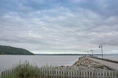 Baie-Saint-Paul charlevoix quebec. Pier in Baie-Saint-Paul charlevoix Royalty Free Stock Image