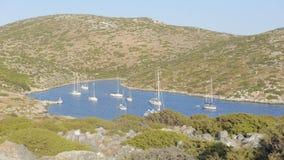 Baie sur l'île de Levitha Photos stock