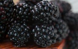 Baies de Blackberry macro Images libres de droits