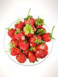 Baies de rouge de fraise Photos stock