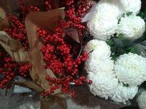 Baies et fleurs Photos libres de droits