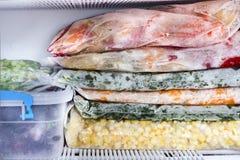 Baies et légumes congelés Photographie stock libre de droits