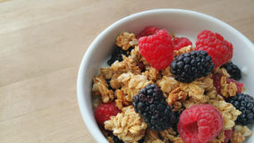 Baies, granola et yaourt Photographie stock