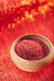 Baies rouges moulues de Sumac Photo stock