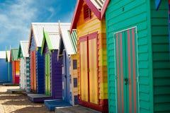 Baignant des cadres sur la plage de Brighton - Melbourne - Aust Photos stock