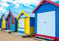 Baigner des maisons chez Brighton Beach, Australie image libre de droits